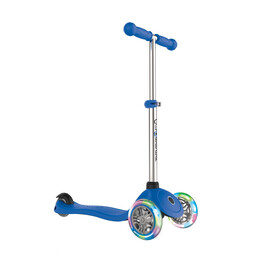 Globber Primo Lights Scooter with battery-free LED wheels Kids, navy blue